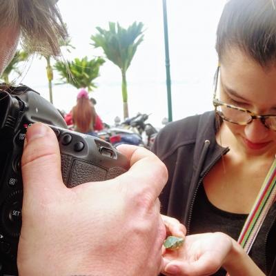 Journalism interns in Vietnam take photos at their placement